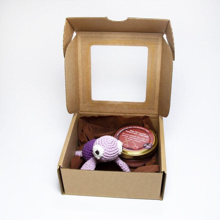 Dāvanu komplekts Laimes bruņurupucītis (violets)