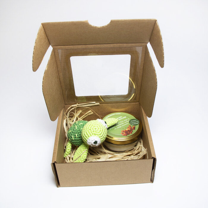 Dāvanu komplekts Laimes bruņurupucītis (zaļš)