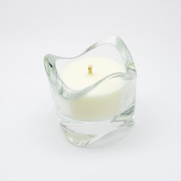 Sojas vaska svece stikla trauciņā